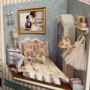 Romantische mini slaapkamer.